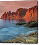 Senja Red Canvas Print