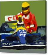 Senna And Mansell Canvas Print