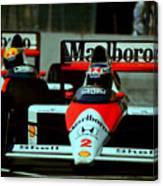 Senna Chasing Prost ... Canvas Print
