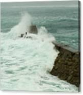 Sennen Cove Breakwater Canvas Print