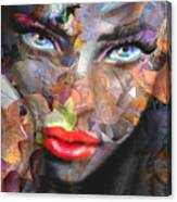 Sensual Eyes Autumn Canvas Print