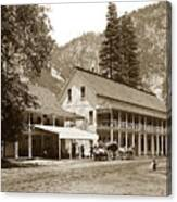 Sentinel Hotel And Ivy And River Cottages Circa 1895 Canvas Print