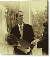 Sepia 2 Wedding Couple Example Canvas Print