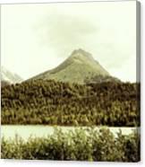 Sepia Alaska  Canvas Print