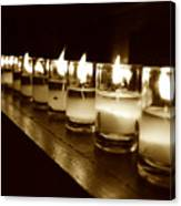 Sepia Candles Canvas Print