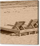 Sepia Chairs Canvas Print