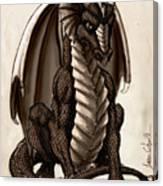 Sepia Dragon Canvas Print