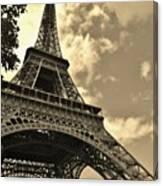 Sepia Eiffel Canvas Print