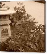 Sepia Japanese Garden Canvas Print