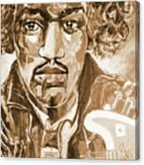Sepia Jimi Canvas Print