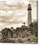Sepia Lighthouse Canvas Print