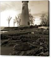 Sepia Marblehead Lighthouse Canvas Print