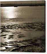 Sepia River Canvas Print