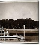 Sepia Tone Lagoon Canvas Print