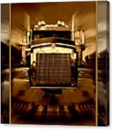 Sepia Toned Kenworth Abstract Canvas Print