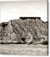 Sepia Tones Nature Landscape Nevada  Canvas Print