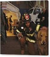 September 11th Rescue Workers Receive Canvas Print