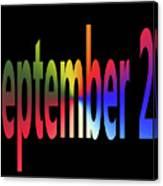 September 25 Canvas Print
