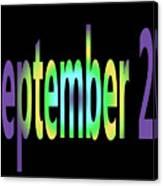 September 27 Canvas Print