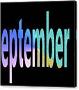 September 8 Canvas Print