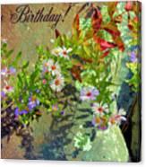 September Birthday Aster Canvas Print