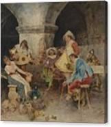 Serenade In The Tavern Canvas Print