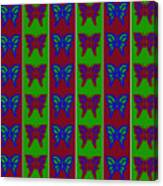 Serendipity Butterflies Blueredgreen 14of15 Canvas Print