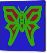 Serendipity Butterflies Blueredgreen 6of15 Canvas Print
