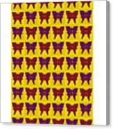 Serendipity Butterflies Brickgoldblue 26 Canvas Print