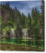 Serene Hanging Lake Waterfalls Canvas Print