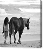 Serene Synchronicity In Black And White Canvas Print