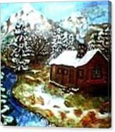 Serenity Cabin Canvas Print