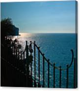 Serenity In The Bay Of Naples Canvas Print