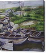 Serenity Of Waterside Canvas Print