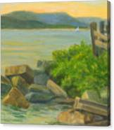 Serenity On The Hudson Canvas Print