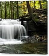 Serenity Waterfalls Landscape Canvas Print