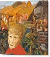 Sergei Esenin 1895-1925 As A Youth, Boris Grigoriev Canvas Print