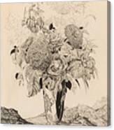 Sergey Vasilievich Chekhonin Russian 1878-1936 Flower Bouquet, 1935 Canvas Print