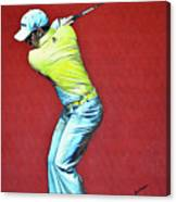 Sergio Garcia By Mark Robinson Canvas Print