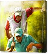 Sergio Garcia In The Madrid Masters Canvas Print