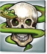 Serpent N Skull Canvas Print