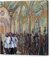 Service In San Fernando Cathedral Canvas Print
