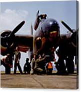Servicing An A-20 Bomber Langley Field Va Canvas Print