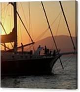 Set Sail On The Aegean At Sunset Canvas Print