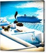 Set Sail Santorini Canvas Print