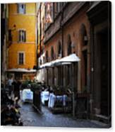 Setta Alley And Motorcycle Canvas Print