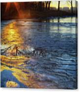 Setting On Thin Ice Canvas Print