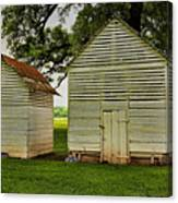 Setting Pen And Chicken Coop Canvas Print