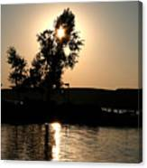 Setting Sun At Cypress Hills Canvas Print