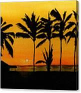 Setting Sun In The Tropics Canvas Print
